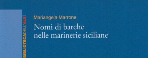 Mariangela Marrone | Nomi di barche nelle marinerie siciliane