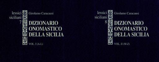Caracausi Girolamo | Dizionario onomastico della Sicilia. Vol. II