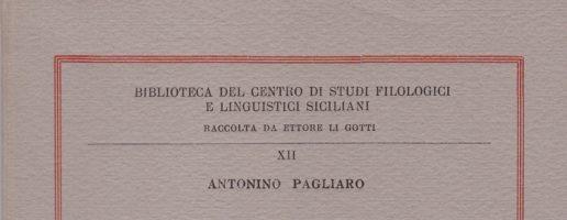 BIBLIOTECA DEL CENTRO STUDI FILOLOGICI E LINGUISTICI SICILIANI