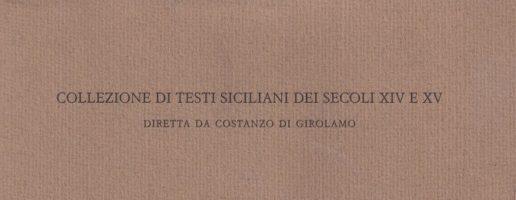 Stefano Rapisarda | Il «Thesaurus pauperum» in volgare siciliano