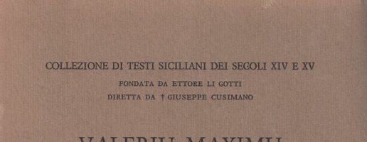 Enzo Mattesini | Valeriu Maximu translatu in vulgar messinisi per Accursu di Cremona (vol. III / Indice lessicale)