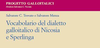 S. C. Trovato e S. Menza – Il Vocabolario del dialetto galloitalico di Nicosia e Sperlinga – Materiali ALS 39/2020
